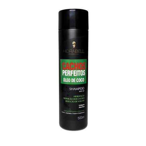 Shampoo Cachos Perfeitos Óleo De Coco 500ml Hidrabell