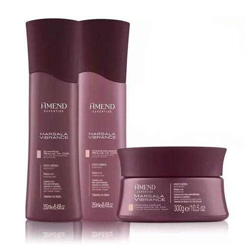 Shampoo+condicionador E Máscara Amend Marsala