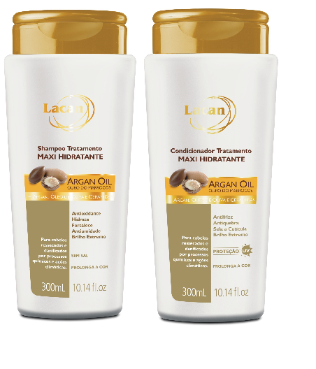 Shampoo + Condicionador Lacan Argan Oil 300ml