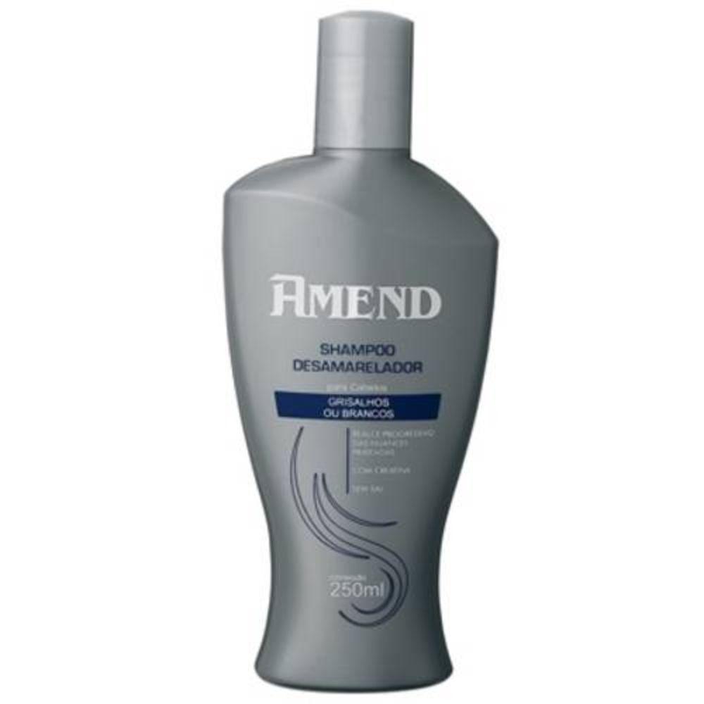 Shampoo Desamarelador Amend Cabelos Grisalhos ou Brancos - 250ml
