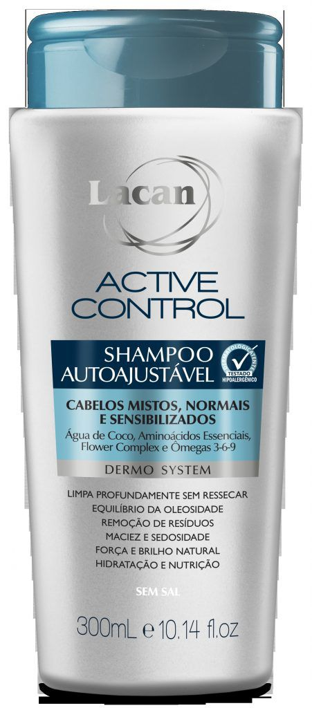 Shampoo Lacan Autoajustavel Active Control 300ml