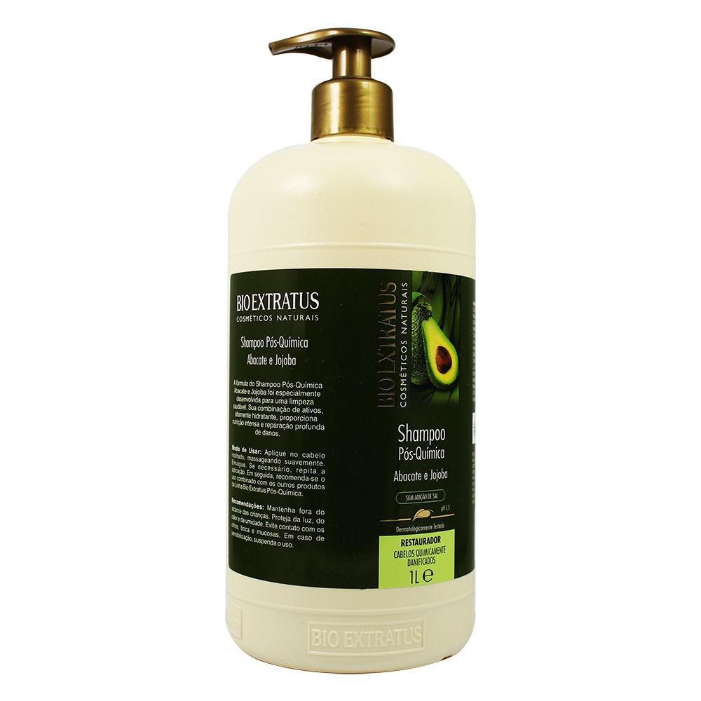 Shampoo Bio Extratus Pós Química Abacate E Jojoba Bio Extratus 1 Litro