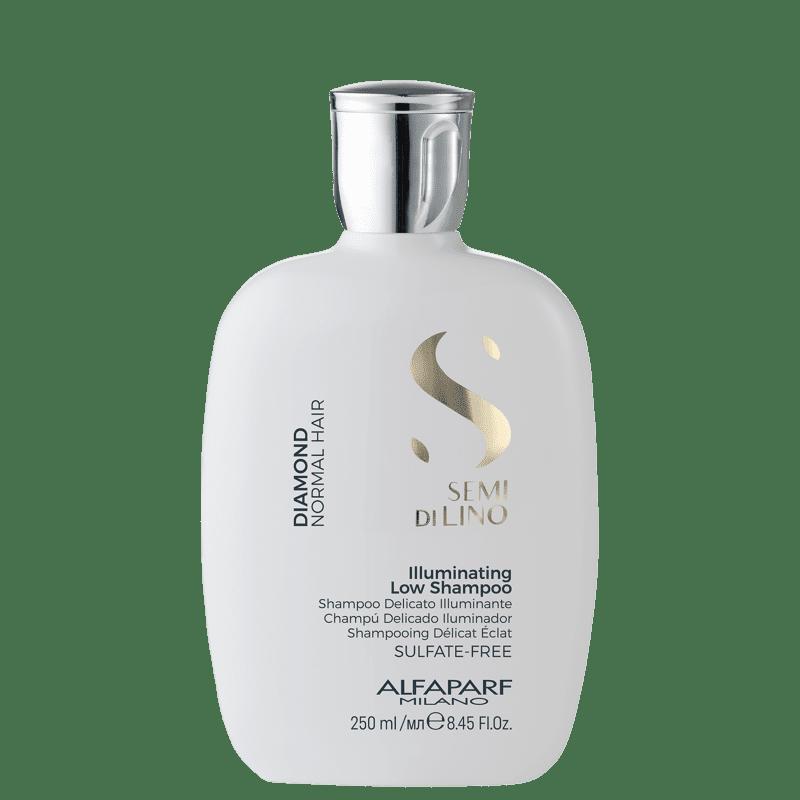 Shampoo sem Sulfato 250ml Alfaparf Semi Di Lino Diamond Illuminating