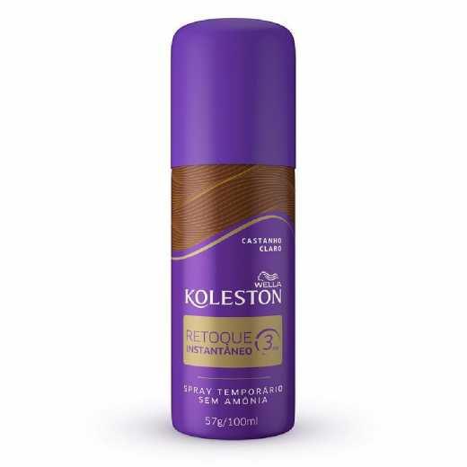 Spray Retoque De Raiz Koleston Castanho Claro - 100ml