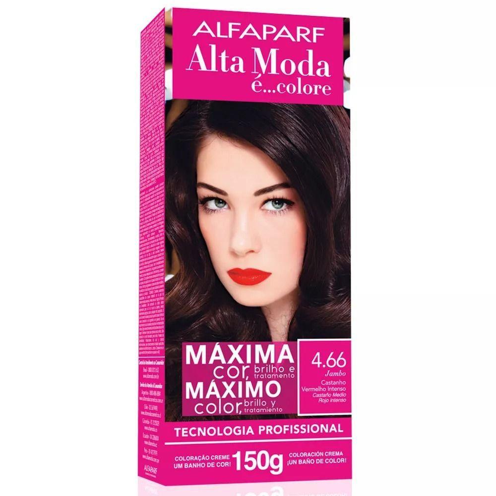 Tintura Alta Moda Alfaparf 466 150g Castanho Vermelho Intenso