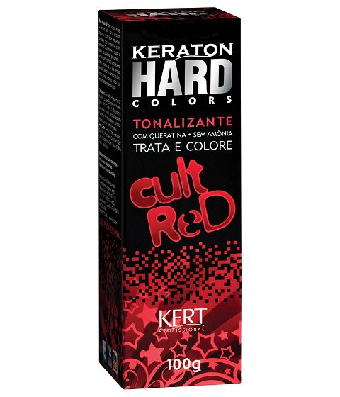 Tonalizante Keraton Hard Colors Cult Red 100g
