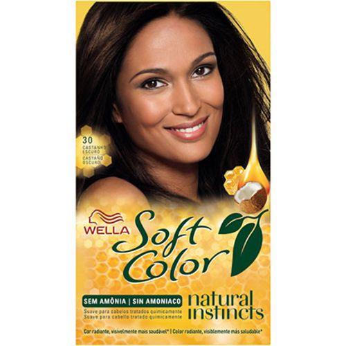 Tonalizante Soft Color 30  Castanho Escuro