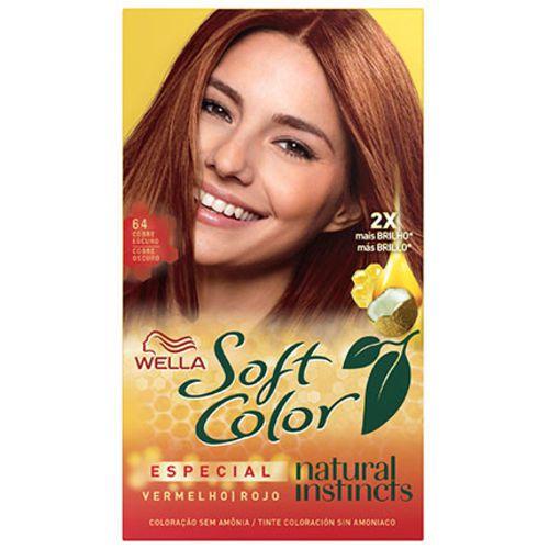 Tonalizante Soft Color 64 Vermelho Especial Cobre Escuro