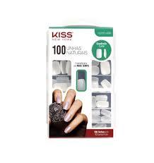 Unhas Postiças Kiss NY - 100 Unhas Naturais Quadrado Curto