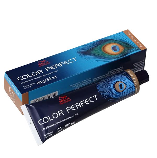 Wella Color Perfect 6.0 Louro Escuro - Coloração Permanente 60g