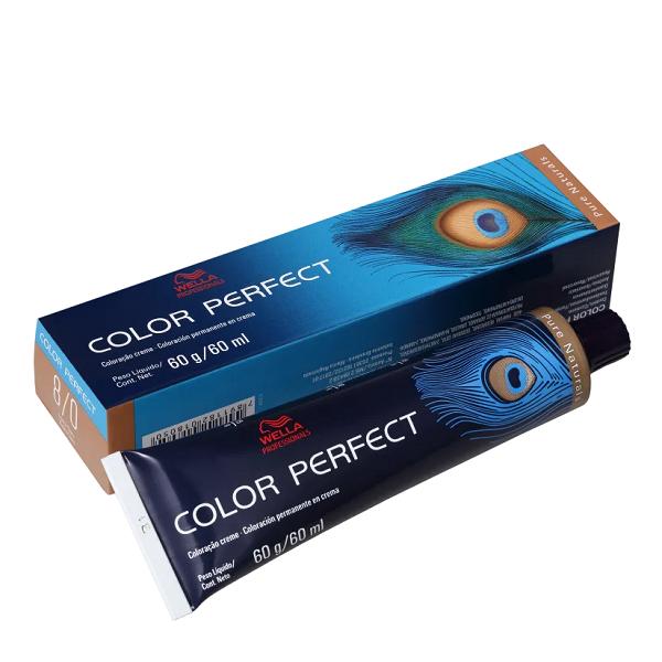 Wella Color Perfect 8.0 Louro Claro - Coloração Permanente 60g