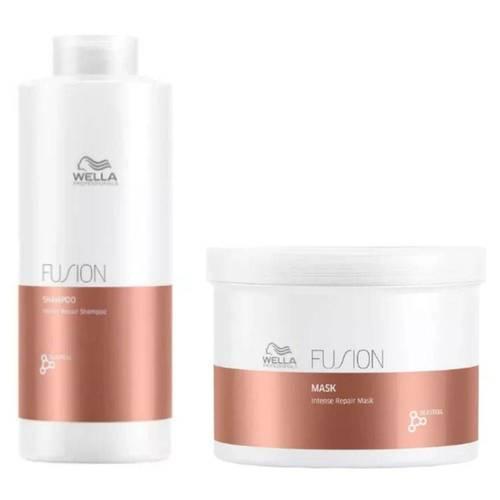 Wella Fusion Shampoo 1000ml + Máscara 500ml