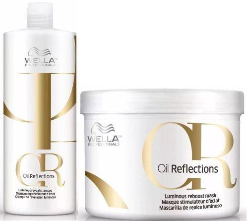 Wella Kit Oil Reflections Shampoo 1000ml + Mascara 500ML