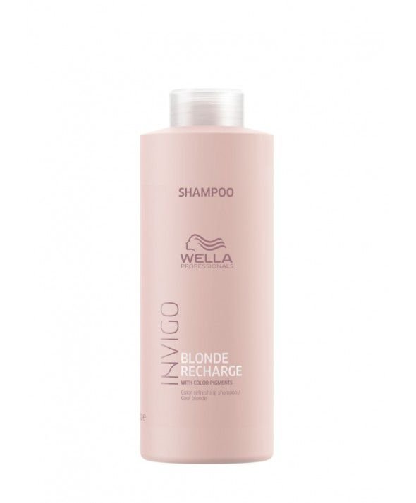 Wella Professionals Invigo Blonde Recharge - Shampoo Desamarelador 1000ml