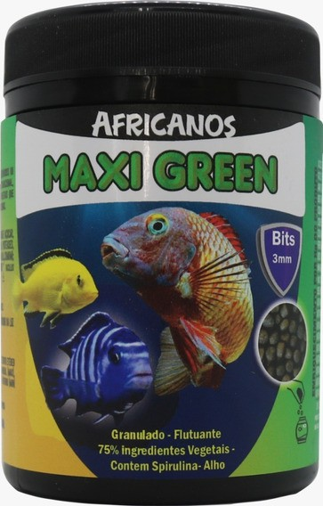 Africanos MaxiGreen 3 a 5mm 110g  - Aquário Estilos