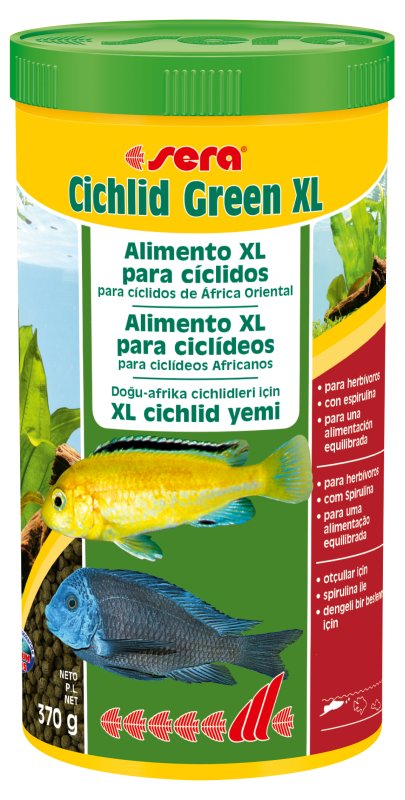 SERA Cichlid Green XL1000 ml  - Aquário Estilos