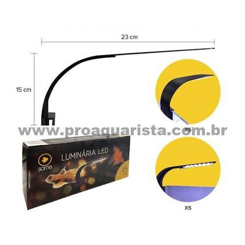 Luminária SOMA X5  - Aquário Estilos