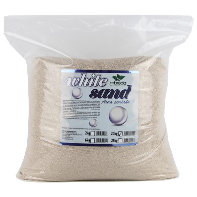 MBreda Areia Perolada White Sand 20kg  - Aquário Estilos
