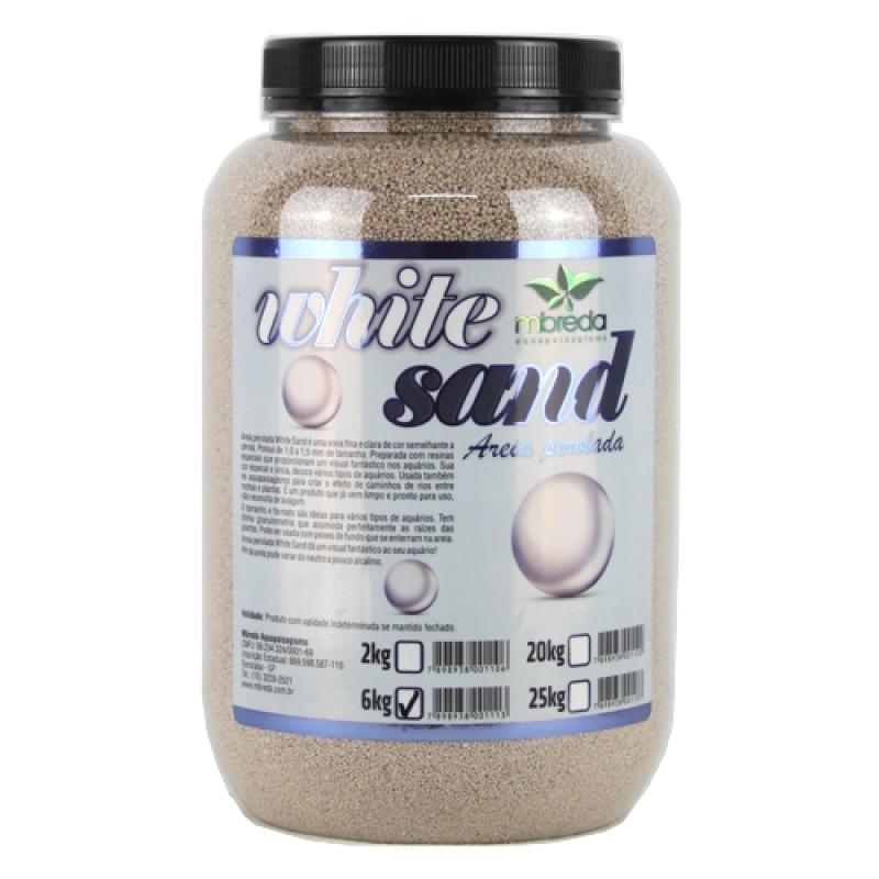 Mbreda Areia Perolada White Sand 6kg  - Aquário Estilos