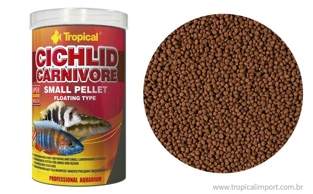 Tropical Cichlid Carnivore Small Pellet 90g  - Aquário Estilos