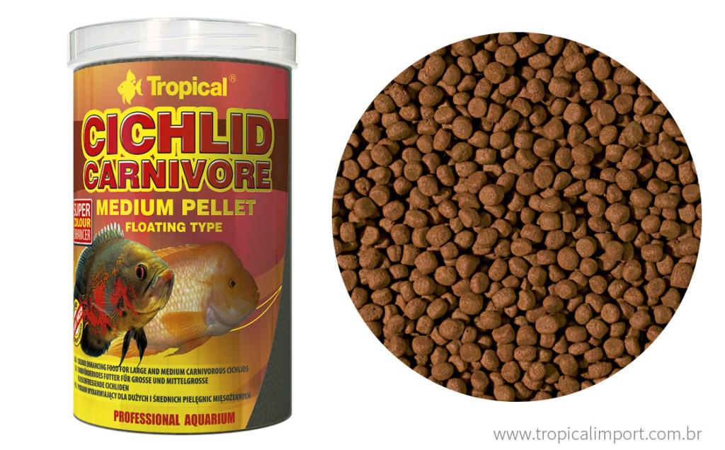 Tropical Cichlid Carnivore Medium Pellet 180g  - Aquário Estilos