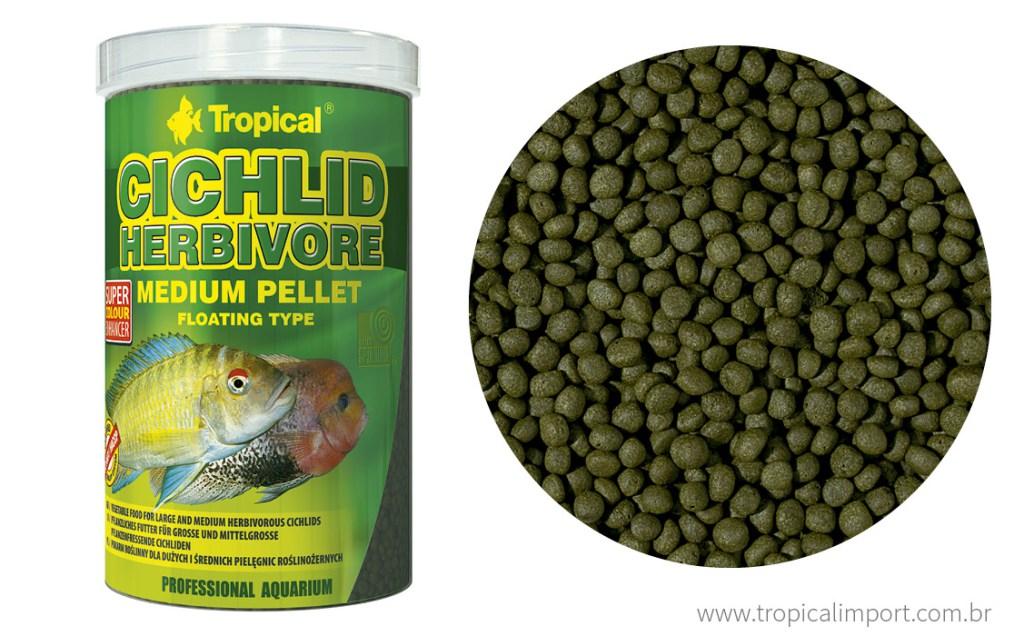 Tropical Cichlid Herbivore Small Pellet 90g  - Aquário Estilos