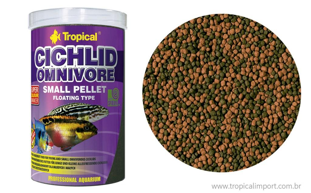 Tropical Cichlid Omnivore Small Pellet 90 gramas  - Aquário Estilos