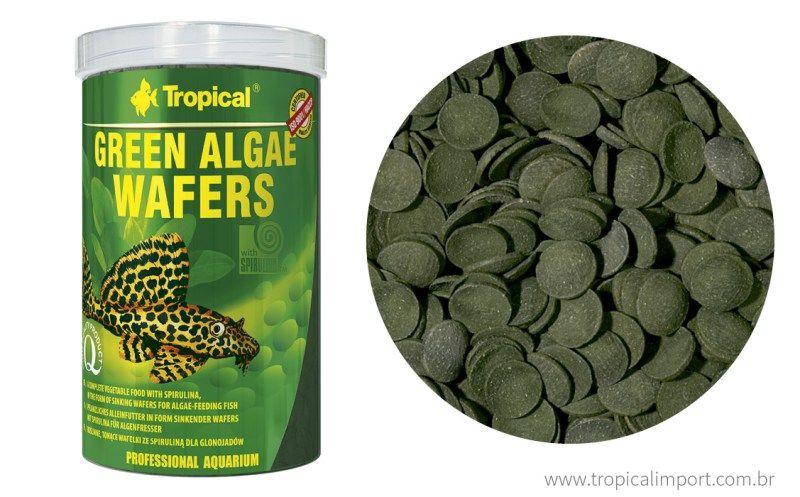 Tropical Green Algae Wafers 45g  - Aquário Estilos