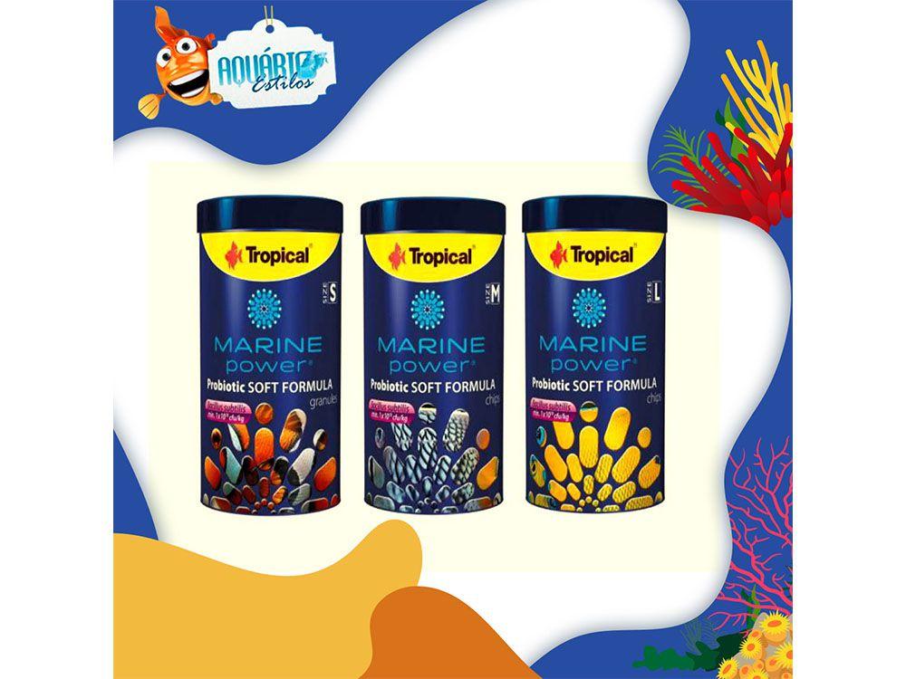 Tropical Marine Power Probiotic Soft Formula  - Aquário Estilos