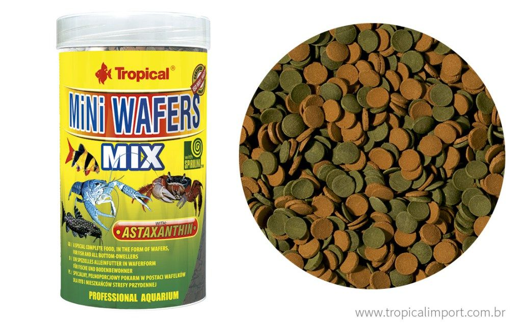 Tropical Mini Wafers Mix 18g  - Aquário Estilos