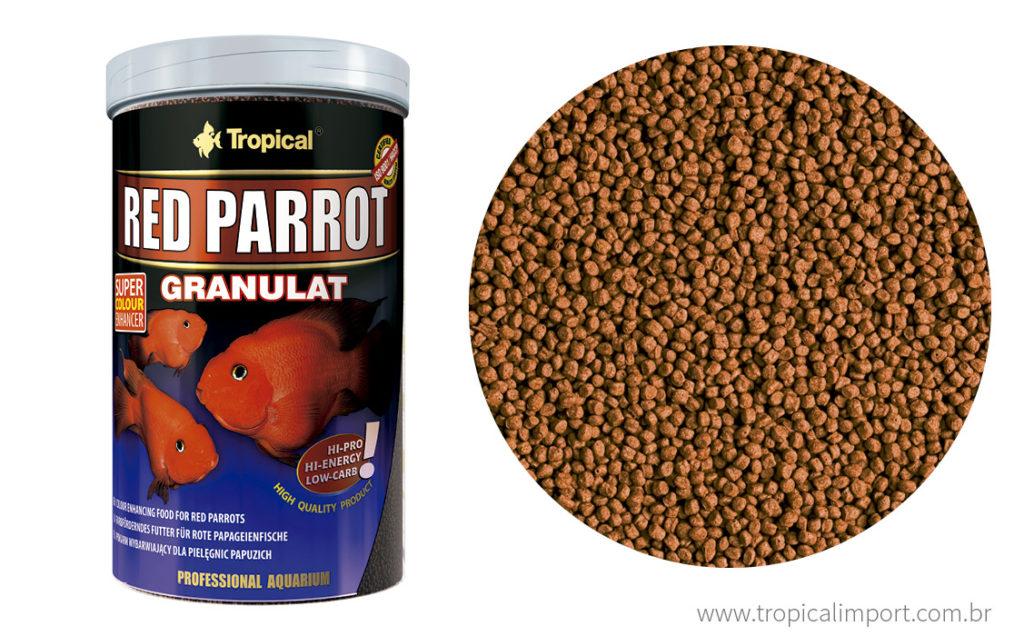 Tropical Red Parrot Granulat 100g  - Aquário Estilos