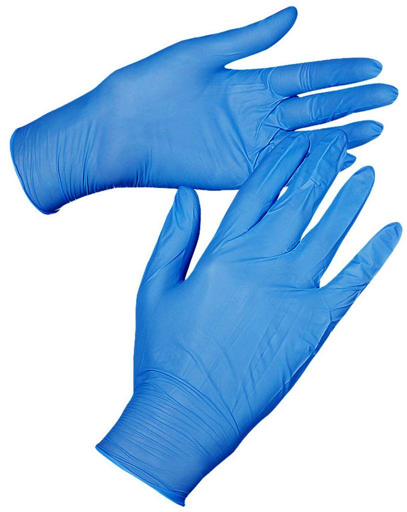 10 Luvas Nitrylex Atacado Azul Tam G Sem Pó Resistente Profissional Nova