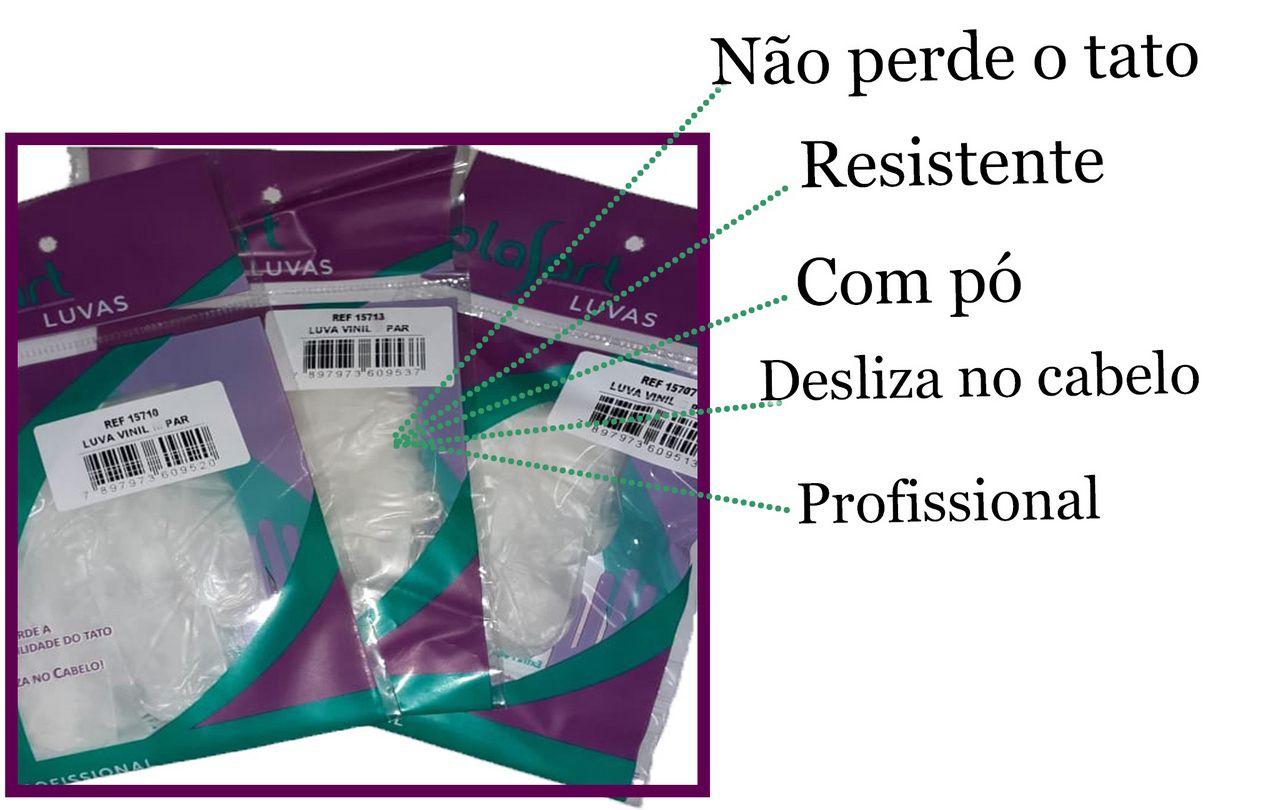 10 Pares De Luvas Atacado Vinil Branca-09 Com Pó Proteção Individual Procedimentos Tam G Manicure Cabeleireiro Profissional Plasart