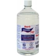 Alcool 70 Liquido 1 Litro Antisséptico Higienizador Proteção Limpeza Superfícies Casa Desinfetante Antibactericida Multiuso Boró