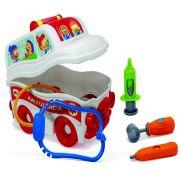 Ambulância S.O.S Resgate Infantil Menino Menina Brinquedo + Acessórios Socorrista Para Brincar Lançamento Elka