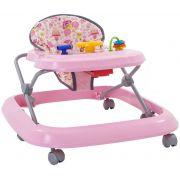 Andador Infantil Rosa Tutti Baby Rosa Menina Até 15Kg Princesa