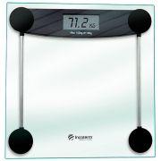 Balança Digital De Banheiro Corporal Ampla Plataforma Slim Capacidade até 150Kg  Vidro Temperado Resistente visor Lcd Saúde E Bem-Estar Incoterm