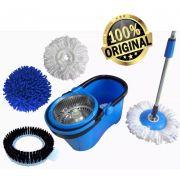 Balde Esfregão 1.60m 3 Refis Com Dreno Perfect Mop Limpeza Centrifuga Prático