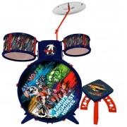 Bateria Infantil Brinquedo Vingadores Menino Capitão América Hulk Homem De Ferro Thor Estimula Coordenação Motora Resistente Lançamento