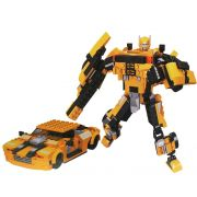 Bloco De Montar Infantil Super Hero 244 Peças 2 em 1 Carro Robô Menino Inmetro Nível Dificuldade Médio Vip Toys Original