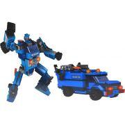 Bloco De Montar Infantil Super Hero 201 Peças 2 em 1 Carro Robô Menino Inmetro Nível Dificuldade Médio Vip Toys Original