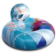 Bóia Poltrona Inflável Frozen Infantil Ana Elsa Olaf Encosto 70 Cm Plástico Azul Brinquedo Divertida Reforçada Meninas Disney Etitoys