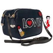 Bolsa Feminina Transversal Pequena Betty Boop Love Preta
