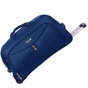 Bolsa Mala Mão Carrinho Rodinhas Média Sacola Azul Escuro Viagem Yins