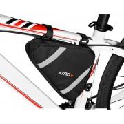 Bolsa Selim Quadro Para Bicicleta Ciclismo Capacidade 1,2L Resistente Á Água Faixas Refletivas Fixação Com 3 Velcros Atrio