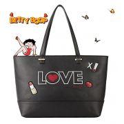 Bolsa Feminina Tote Bag Grande Preta Love Betty Boop Original Semax