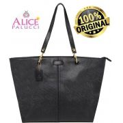 Bolsa Tote Bag Grande Work Now Alice Palucci Preto AL8805PT