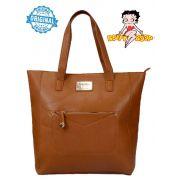 Bolsa Tote Bag Original Semax Betty Boop Grande Caramelo Marrom Feminina BP1703 CR