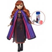 Boneca Articulada Anna Frozen 2 Tamanho Grande Gigante 80 Cm Roupas Removíveis Macia Menina Divertida Bolhas De Sabão Lançamento Baby Brink