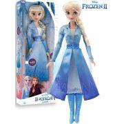 Boneca Articulada Elsa Frozen 2 Tamanho Médio Roupas Removíveis Macia Menina Divertida Lançamento Baby Brink Disney Maior 3 Anos Nova